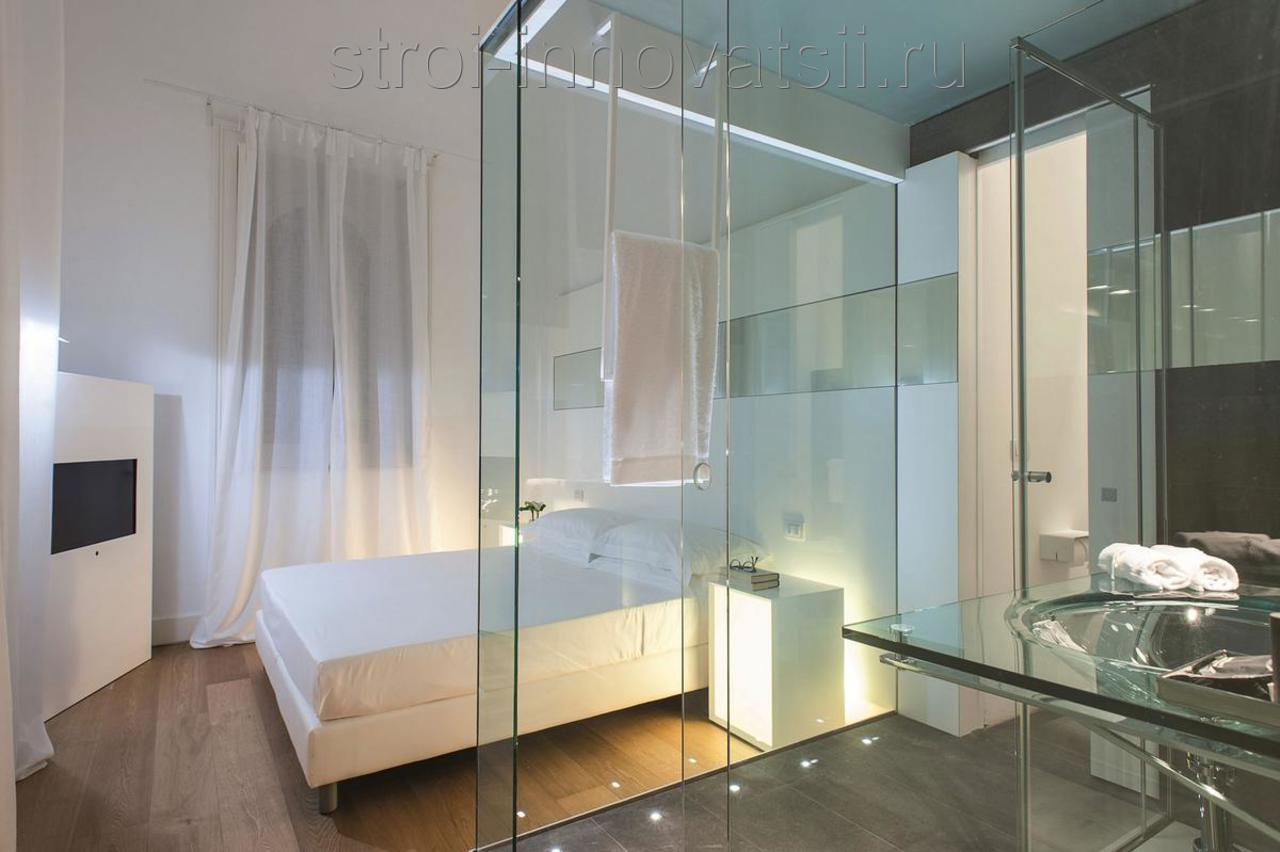 Glass bathroom