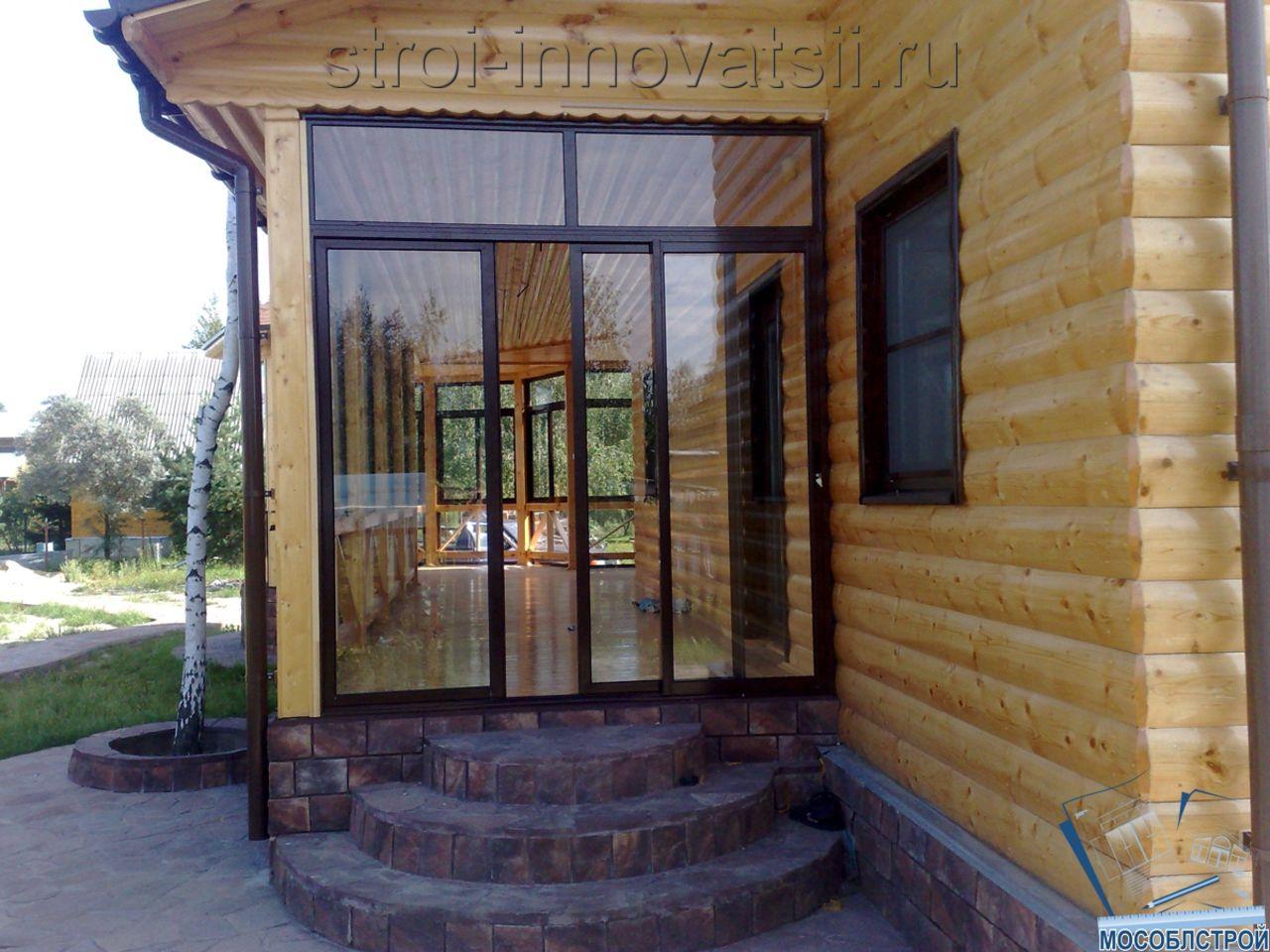 отделка входной двери в дом с веранды фото также варианты