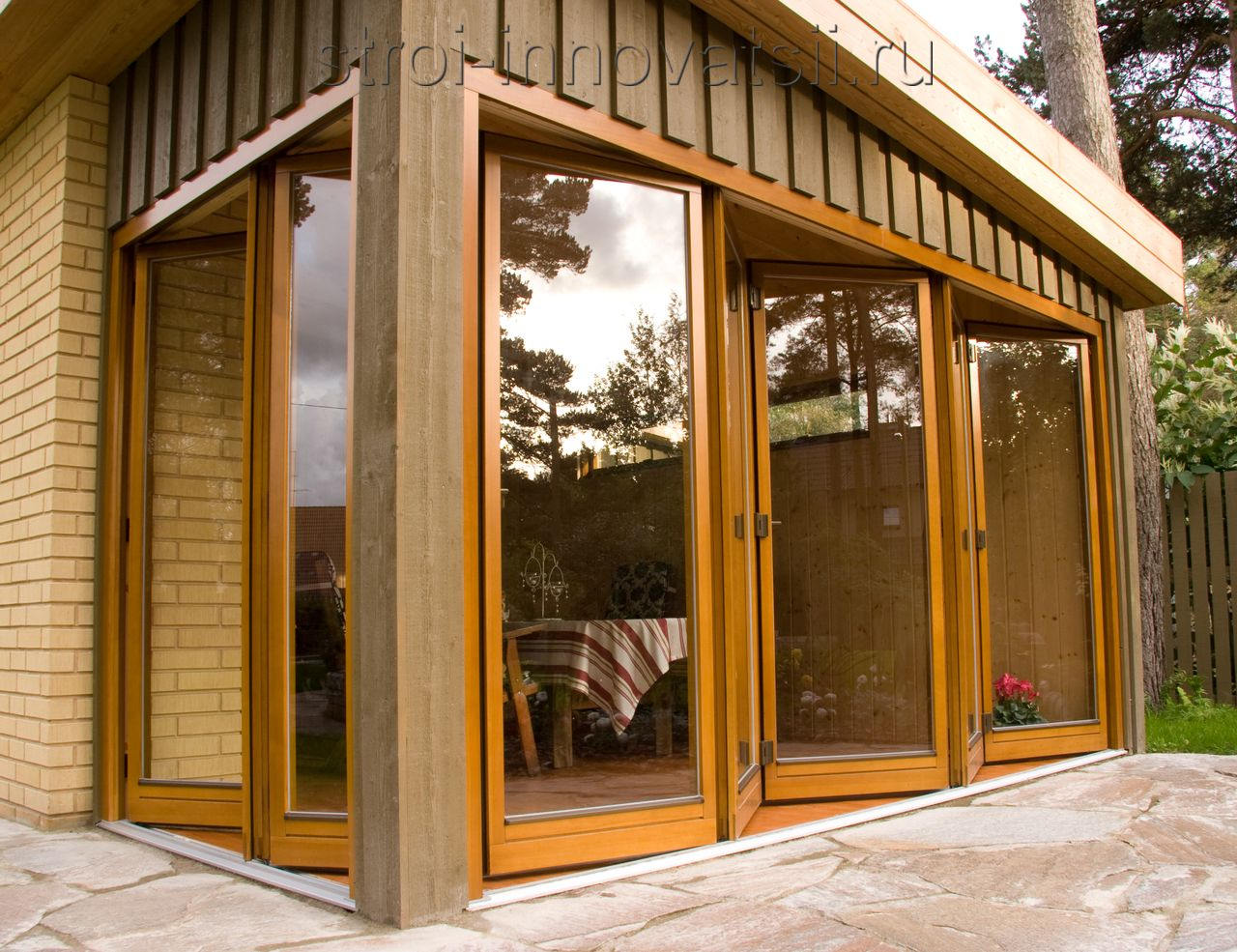 двери-окна и порталы теплые сухого табака сдержанные