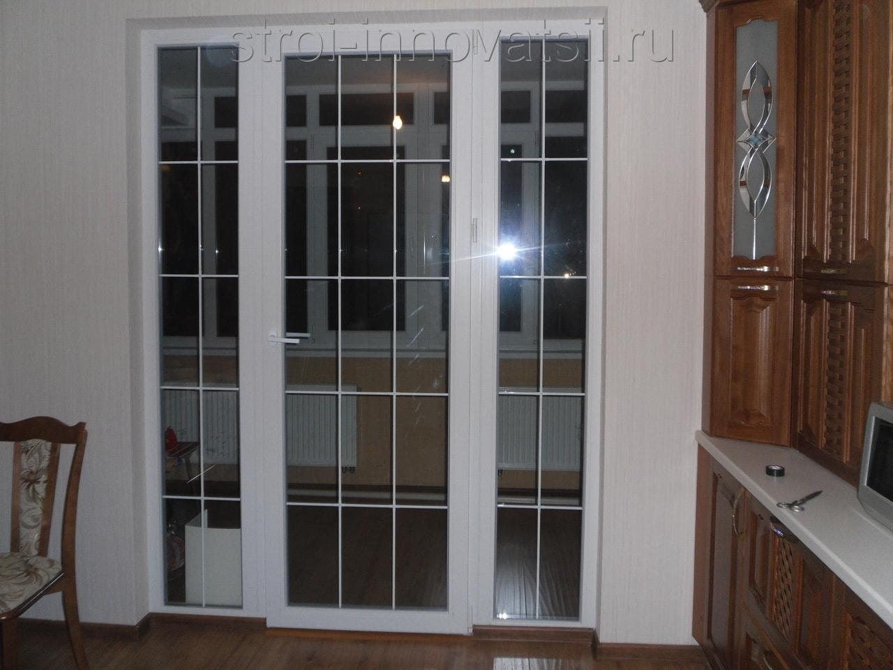 Балконные двери в пол.