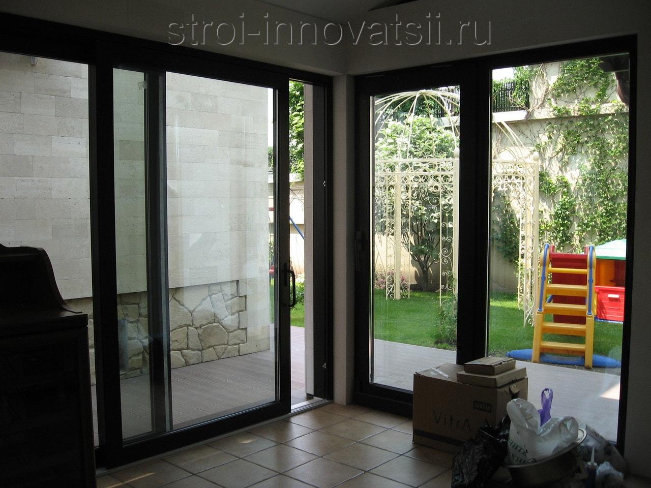 """Стеклянные двери на балкон (54 фото) компания """"kelman""""."""