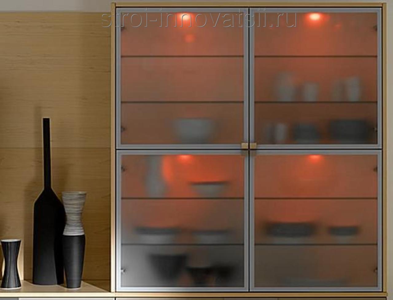 """Стеклянные двери для мебели на заказ компания """"kelman""""."""