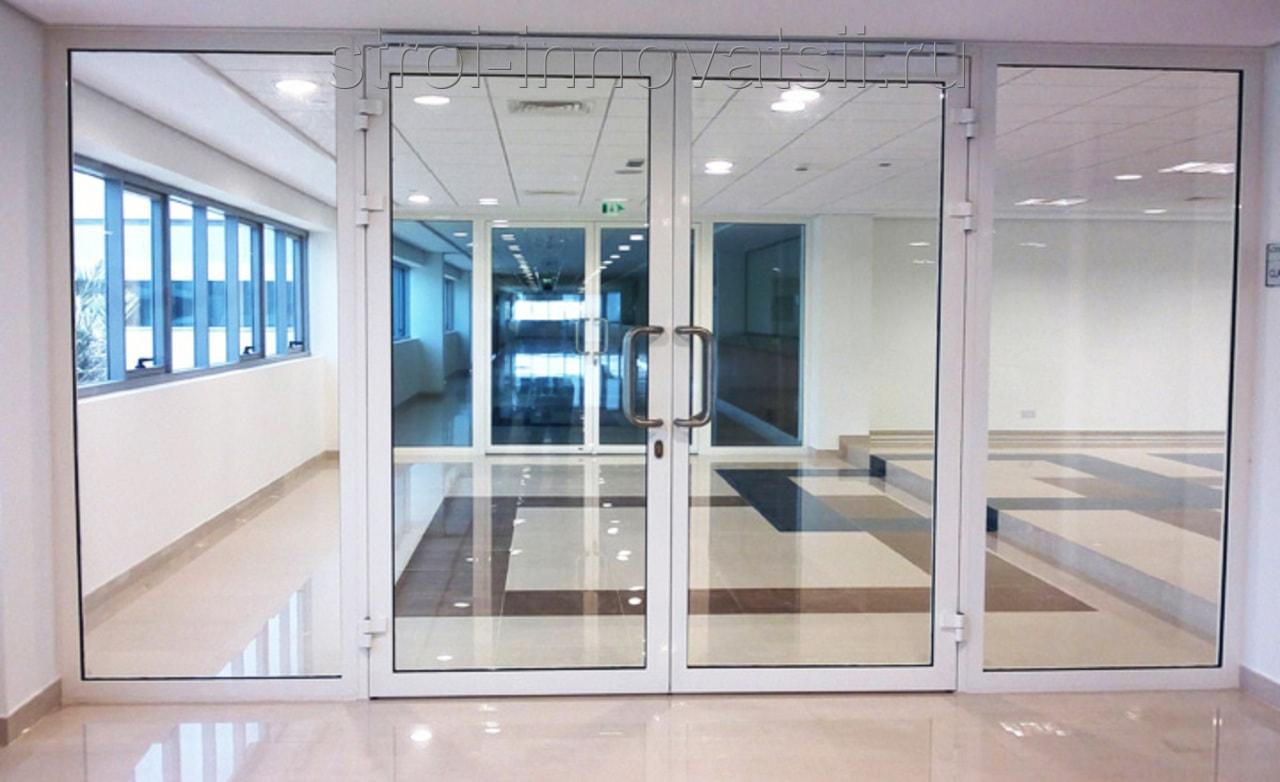 двери металлические остекленные офисные