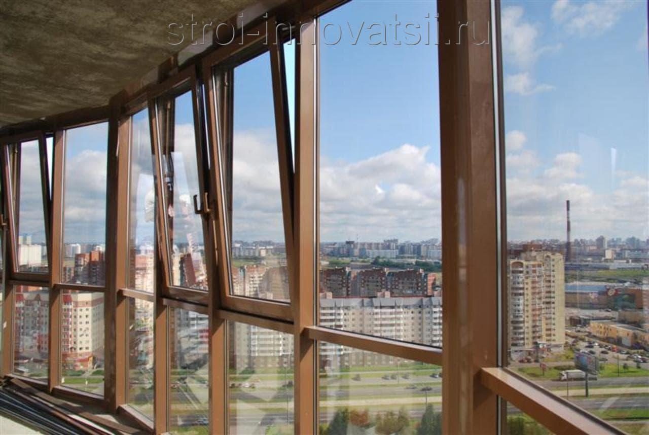 Фасадное остекление балконов и лоджий.