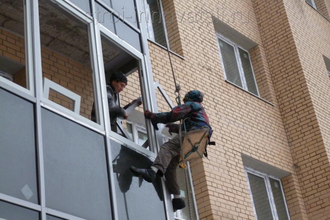 Холодное остекление балконов и лоджий алюминиевым профилем. .