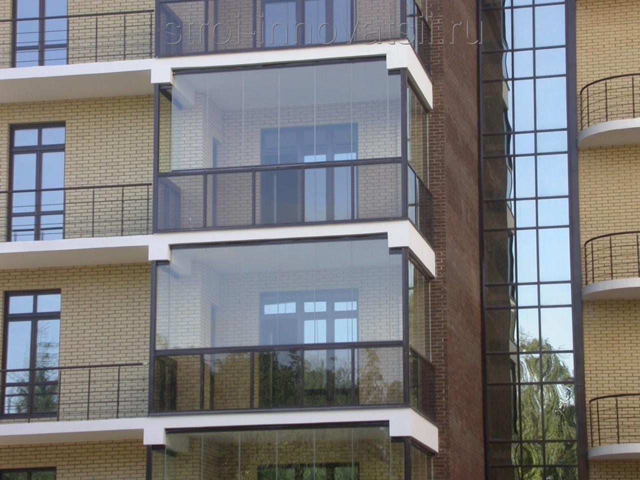 Французское остекление балкона и лоджии от пола до потолка: .