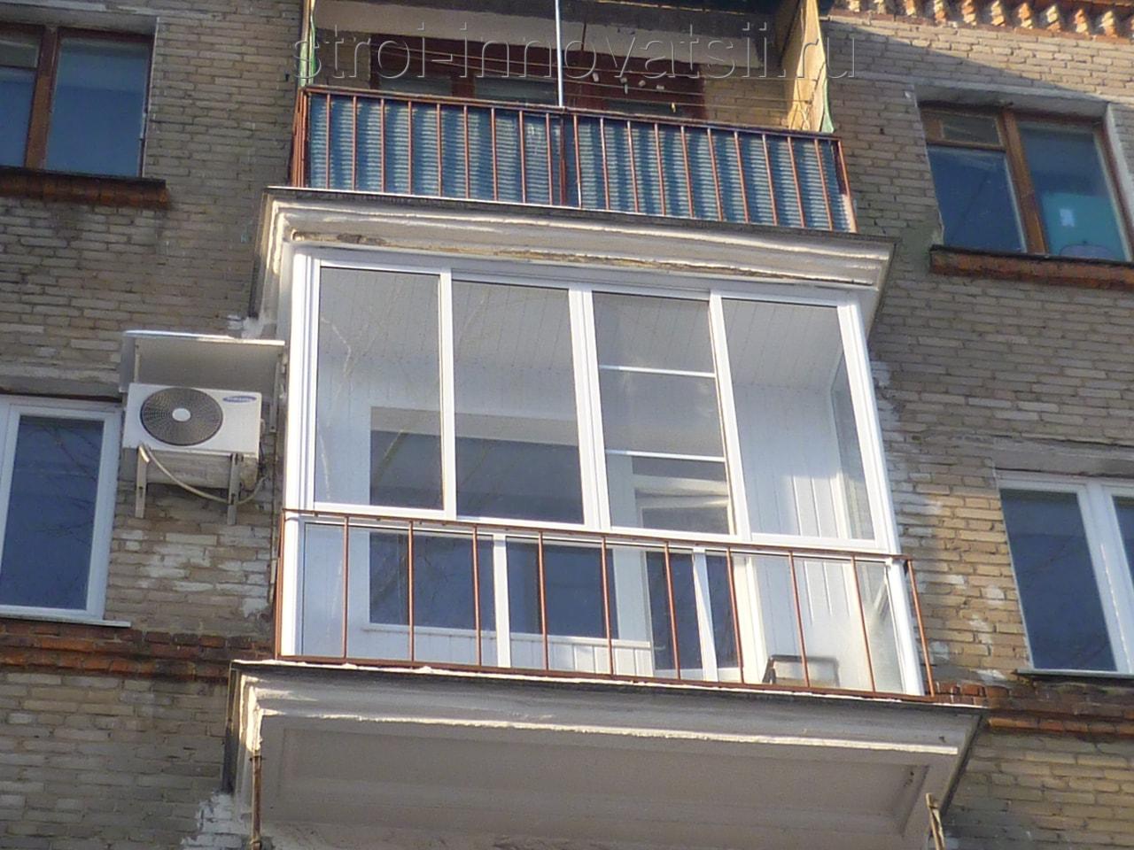 Остекление балконов в минске рамами пвх.