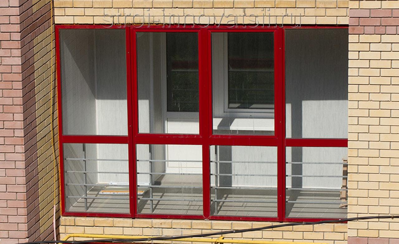 Варианты алюминиевых окон для балкона.
