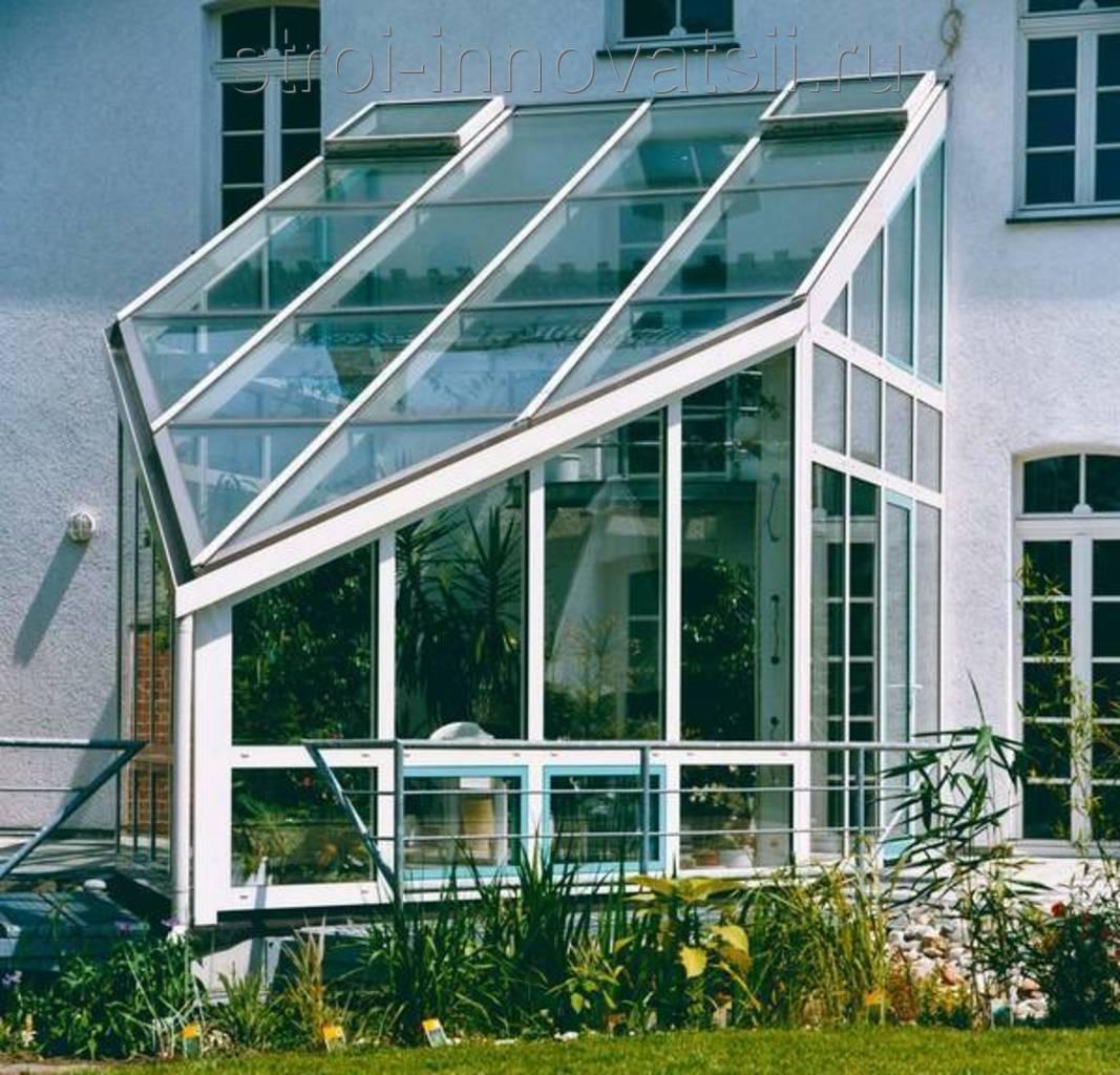 Алюминиевое фасадное остекление для зимнего сада.