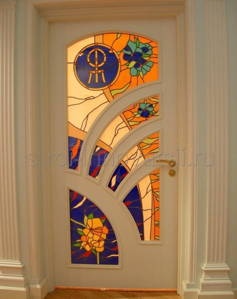 витражи и стеклопакеты железные двери