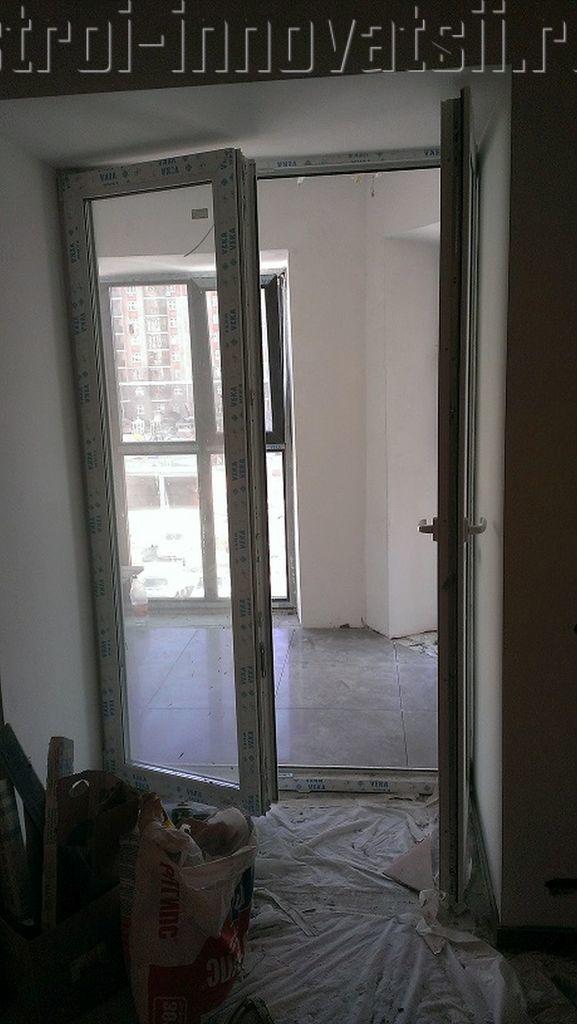 Штульповые двустворчатые балконные двери.