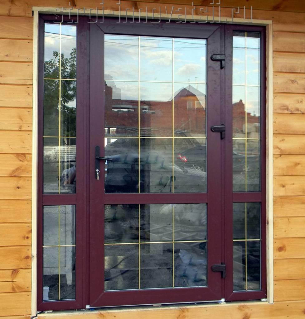 Офисные двери стеклопакет.