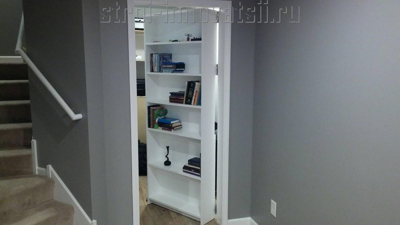 Гостиная с потайной дверью - оформляем эффективный дизайн (7.