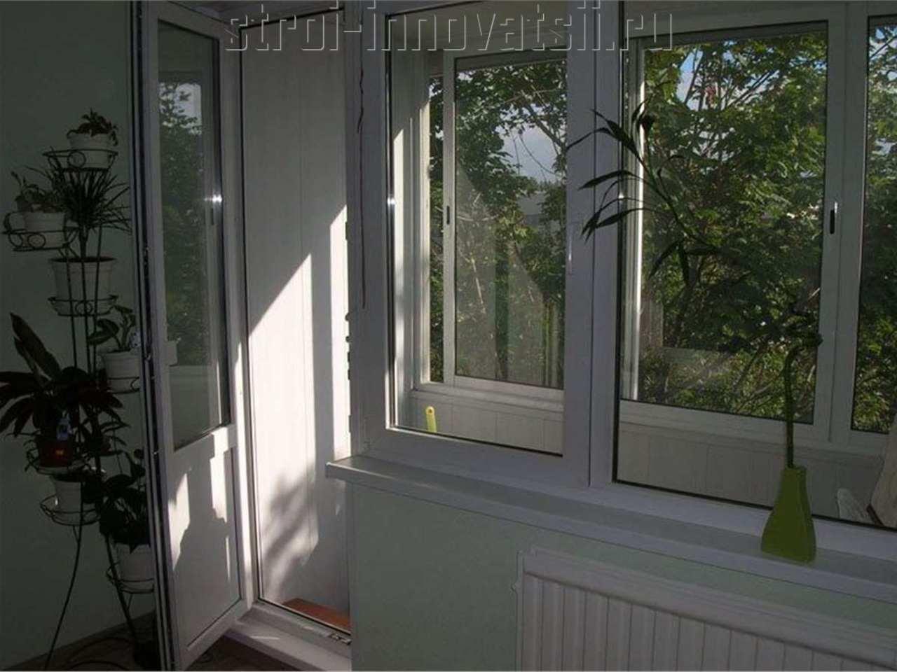 Балконный блок с поворотно-откидным окном - пластиковые окна.
